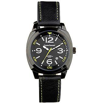 Bruno Banani watch wristwatch of Ketos leather analog BR30018
