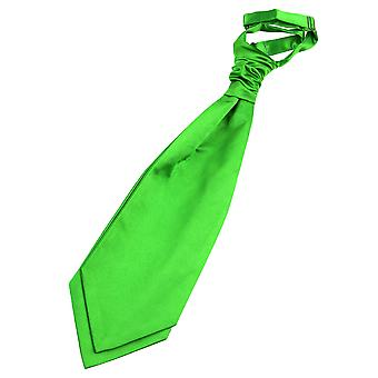 Apple Green Plain Satin Pre-Tied Wedding Cravat