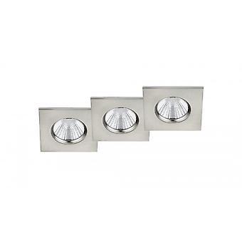 Trio Lighting Zagros Modern Nickel Matt Metal Ceiling Lamp