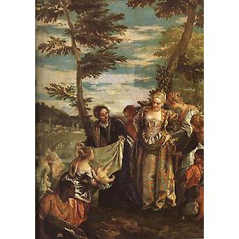 The Finding of Moses, Paolo Veronese, 50x43cm