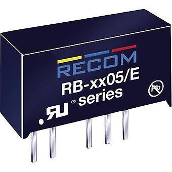 RECOM RB-0505S/E DC/DC converter (print) 5 Vdc 5 Vdc 200 mA 1 W No. of outputs: 1 x