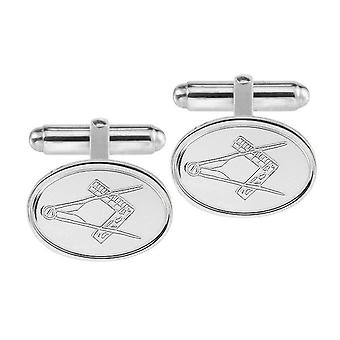 Woodford Masonic Cufflinks - Silver