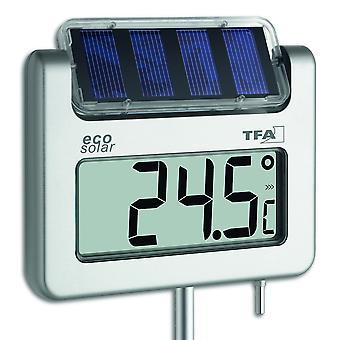 Solar Garden thermometer digital aluminium weatherproof 117 cm