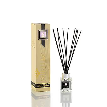 Natural Reed Diffuser - Long-lasting & Healthy - Beautiful Perfumes that Compliment You - Fragrance for 2-3 months (50 ml) - White Lavender by PAIRFUM - Black Reeds - Glass Cube