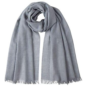 Johnstons of Elgin Extra Fine Wide Scarf - Silver