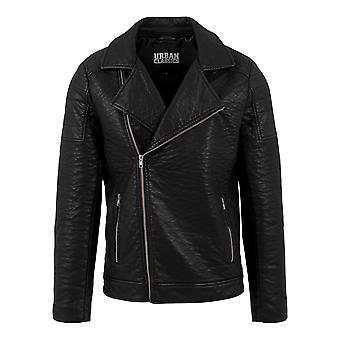 Urban classics men's art leather jacket biker imitation