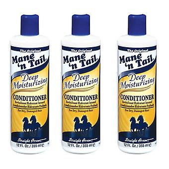 Mane 'n Tail Deep Moisturizing Conditioner 355 ml (3-Pack) with Free Nail File