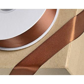 23mm Brown Satin Ribbon for Crafts - 25m | Ribbons & Bows for Crafts