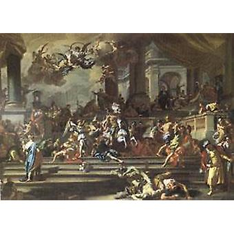 Heliodorus Chased from the Temple,Francesco Solimena,60x40cm