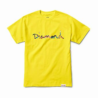 Diamond Supply Co OG Script Fasten T-Shirt Yellow