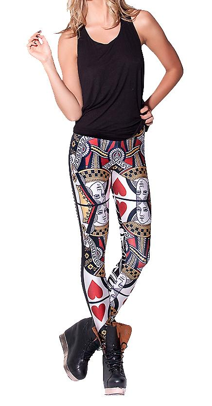 Waooh - Mode - Legging fantaisie imprimé cartes