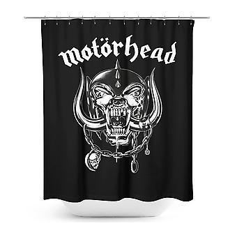 Shower curtain Motörhead Roseline logo black, printed, 100% polyester, 180 x 200 cm.