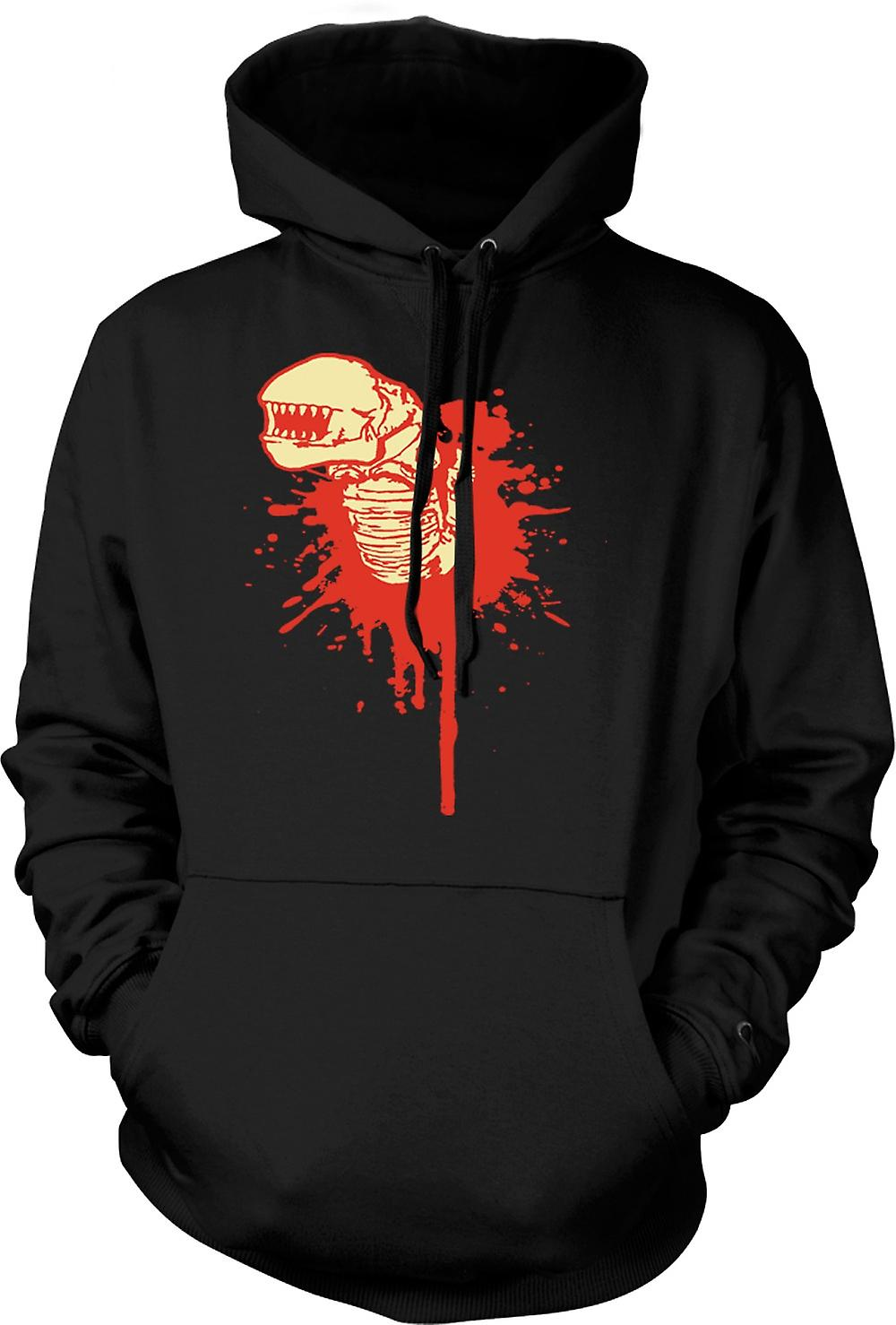Mens Hoodie - fronte straniero Hugger - Horror - Movie