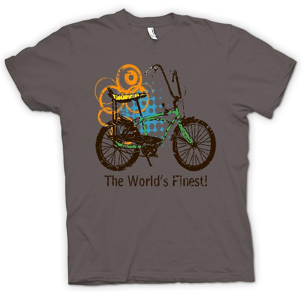 Womens T-shirt - Chopper Bike - World's Finest - Funny Graphic Design