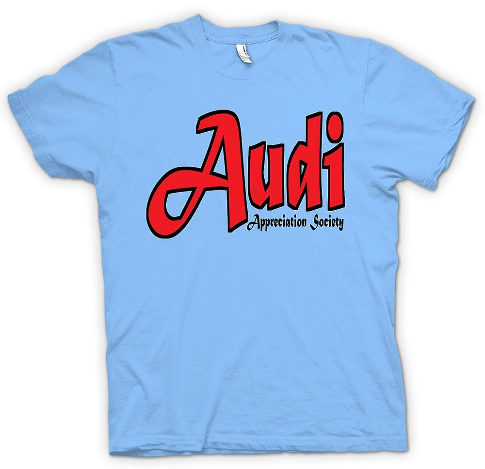Mens t-skjorte-Audi Appreciation Society