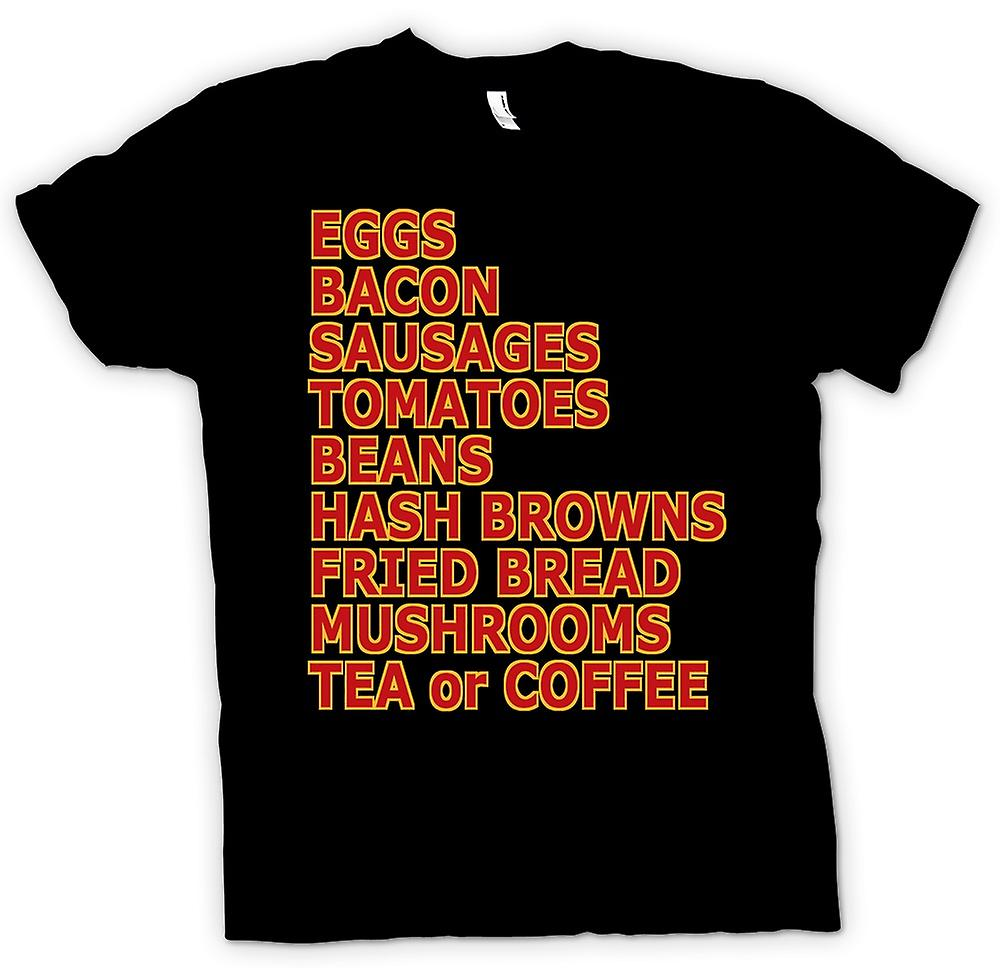 Womens T-shirt - Fry Up - eieren, Bacon, worstjes ¢ - Funny