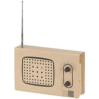 TechBrands Cardboard Radio Construction Kit