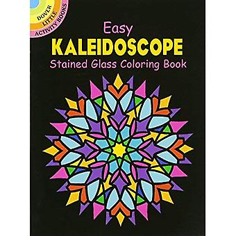 Easy Kaleidoscope Stained Glass Coloring Book (Little Activity)