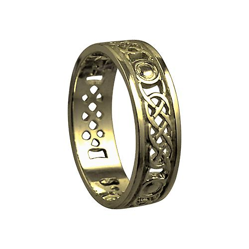 9ct Gold 6mm gents Celtic Trouwring