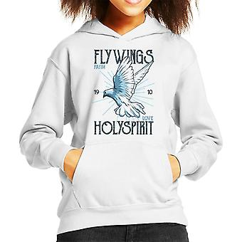 Fly Wings Holy Spirit Kid's Hooded Sweatshirt