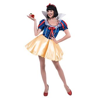 Womens Classic Snow White Fairy Tale Books & Film Fancy Dress Costume