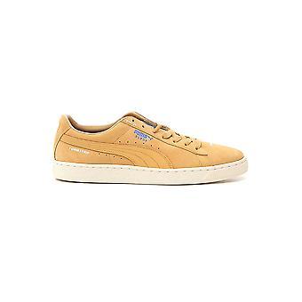 بوما أحذية جلدية صفراء