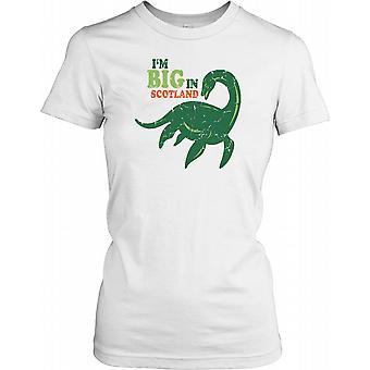 Jeg er stor i Skotland, Loch Ness Monster damer T Shirt