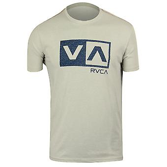 RVCA Mens VA Sport Speckle Box T-Shirt - Cool Gray/Blue