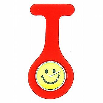 Boxx unisexe rouge Smiley Face Infection Control Gel professionnel montre à gousset Boxx006