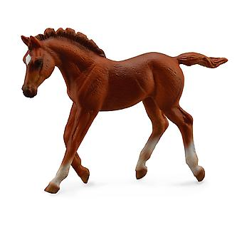 CollectA Thoroughbred foal Walking - Chestnut