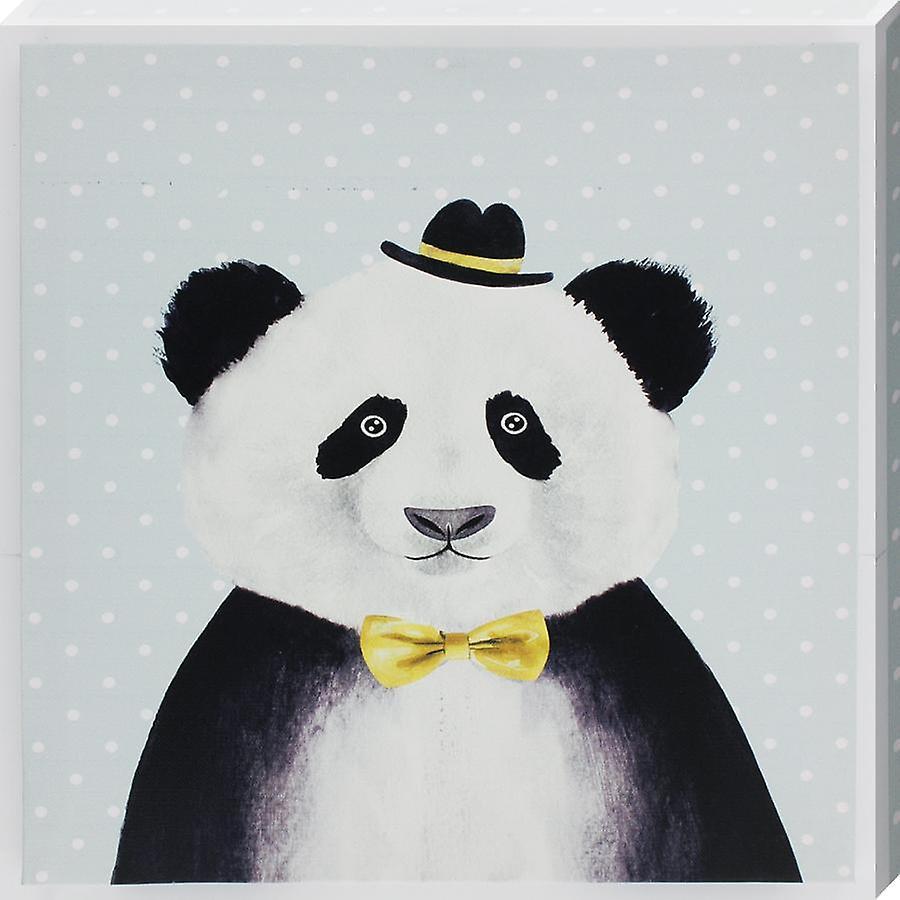 Grindstore Panda In Bowler Hat Canvas Print