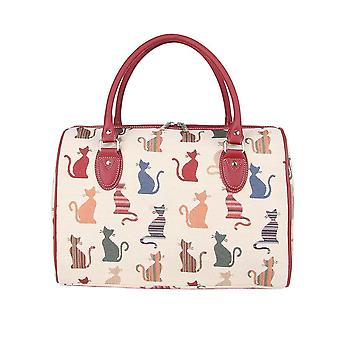 Cheeky cat weekend travel bag by signare tapestry / trav-cheky