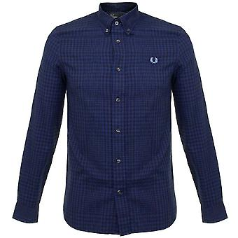 Fred Perry Men's Distorted Gingham Twill Long Sleeve Shirt - M9529-612