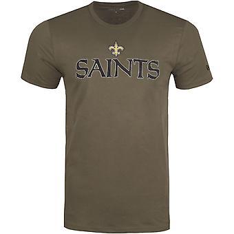 New Era STACK LOGO Shirt - NFL New Orleans Saints olive