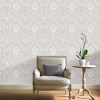 Grandeco Chatsworth Luxury Damask Contemporary Shimmering Glitter Motif Pattern Wallpaper A28702