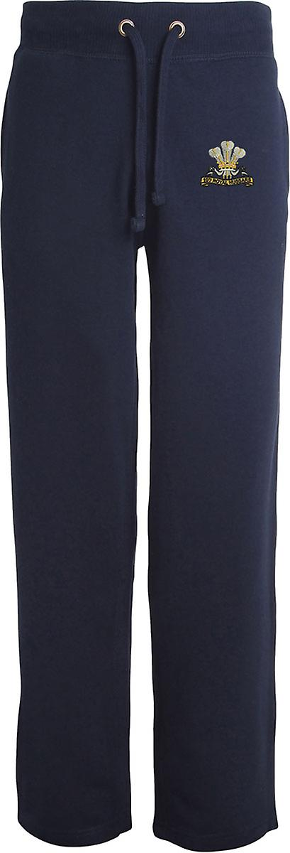 10th Royal Hussars - Licensed British Army Embroidered Open Hem Sweatpants / Jogging Bottoms