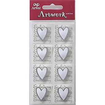 Invitation With Heart Craft Embellishment By Artoz