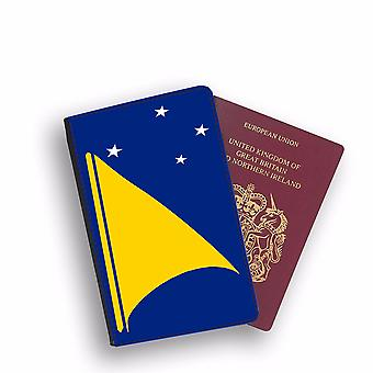TOKELAU Flag Passport Holder Style Case Cover Protective Wallet Flags design
