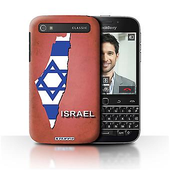 STUFF4 Case/Cover for Blackberry Classic/Q20/Israel/Israeli/Flag Nations
