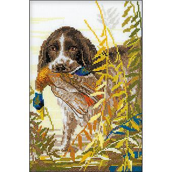 Hunting Spaniel Counted Cross Stitch Kit-7