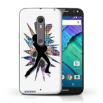 STUFF4 Case/Cover for Motorola Moto X Style/Lean White/Rock Star Pose