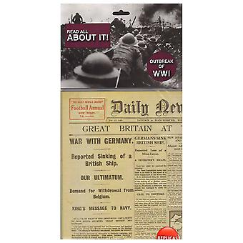 Outbreak of World War 1 - Replica Memorabilia Newspaper