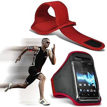 ( Red ) Doogee T5 Lite (5.5 inch ) Pro case High Quality Fitted Sports Armbands Cover By i-Tronixs