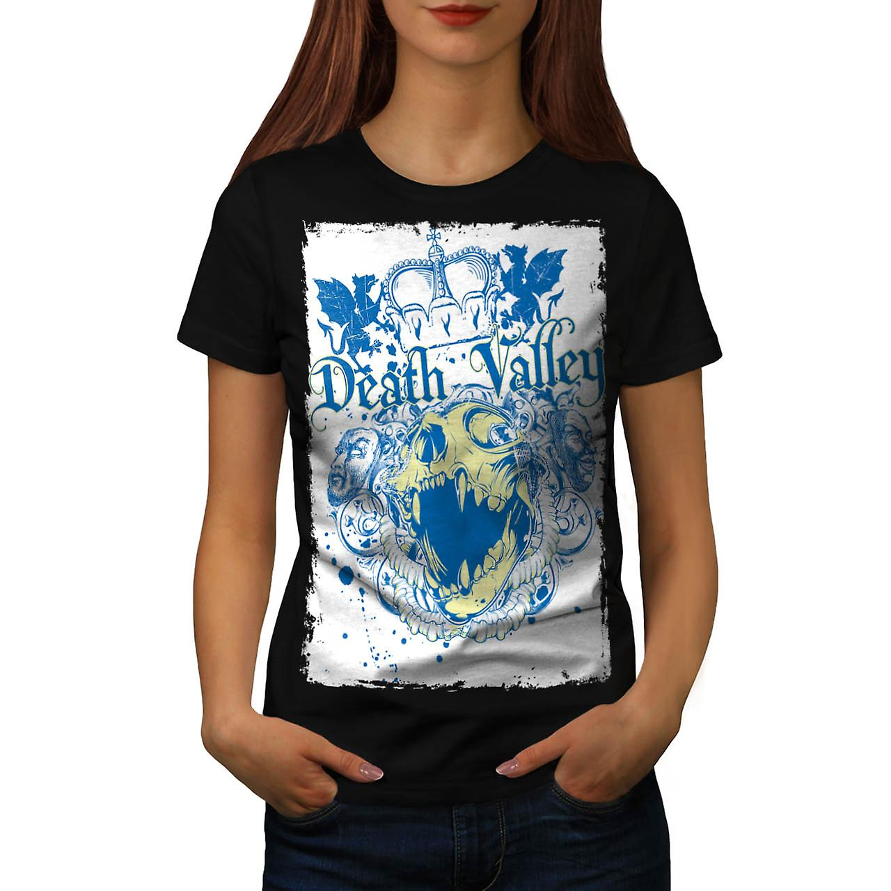 T-shirt nero della Valle della morte mostro Royal Crown donne | Wellcoda
