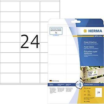 Herma 10905 Labels (A4) 70 x 36 mm Paper White 600 pc(s) Permanent Adhesive labels (extra strong), All-purpose labels In