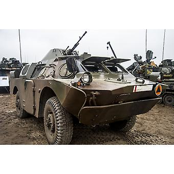Eine polnische Armee BRDM-2 Aufklärungs- und Patrouille Kampffahrzeug Poster Print