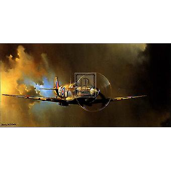 Spitfire Poster Print by Barrie A F Clark (16 x 12)