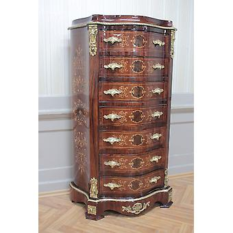Chest of drawers baroque cabinet Louis xv antique style MkSm0014Gn