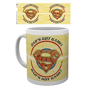 Superman Väter Tag Becher Papa bekam Spiel Mug