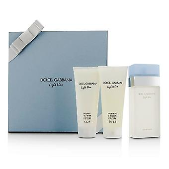 Dolce & Gabbana Light Blue Geschenk-Schatulle: Eau De Toilette Spray 100ml/3,3 oz + Body Creme 100 ml/3,3 oz + Bad & Duschgel 100 ml/3,3 oz 3pcs